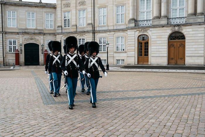 Cambio della guardia Palazzo Amalienborg