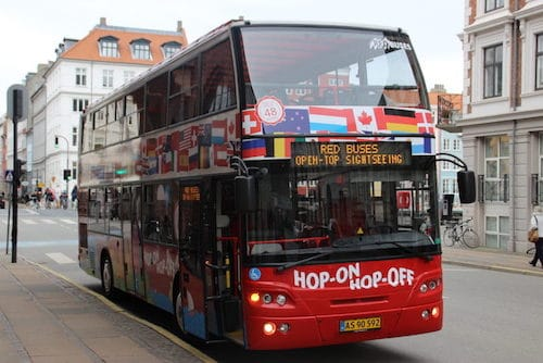 Tour hop on hop off Copenaghen autobus + battello